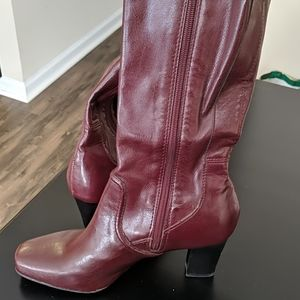 Franco Sarto red leather boots